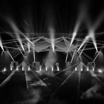 Große Laser- und Lichtshow