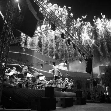 20-minütiges live Feuerwerk